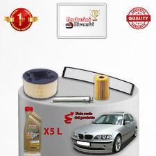 KIT TAGLIANDO 4  FILTRI E OLIO BMW SERIE 3 E46 316 i 85KW 115CV DAL 2003 ->