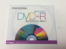 Memorex DVD+R 2pk New Sealed