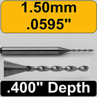 "Size on Depth Ring .120/"" #31 3.05mm Carbide Drill Bit 1//8/"" Shank  .400/"" Depth"