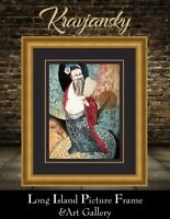 Mikulas Kravjansky Eight Immortals #2 Intaglio Aquatint Etching NEWLY FRAMED