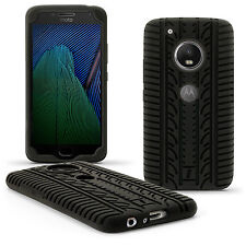 Nero Silicone Case Pneumatico per Motorola Moto G 5a Gen Plus (Lenovo Moto G5+)