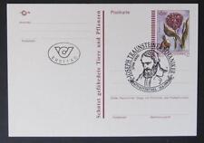 Postkarte Kugelorchis mit Ersttag Sonderstempel
