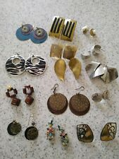 Junk drawer lot vintage handcrafted earrings mixed 120g