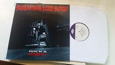 SCREAMING LORD SUTCH Rock & Horror 1982 UK Import goth halloween rock R&R lp !!