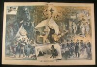 Cause of Christ Exalted Devotion Satan Buying Soul 1880 antique color Puck print