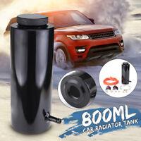 800ML Car Overflow Radiator Coolant Aluminum Catch Tank Cylinder Alloy Kit Black