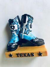 Texas Boot Souvenir Magnet Polyresin