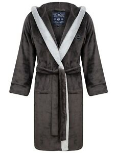 Men's Tokyo Laundry Fleece Hooded Dressing Gown Thick Soft Luxury Bath Robe
