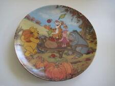 Disney Winnie The Pooh Harvest Time Bradford Exchange Plate
