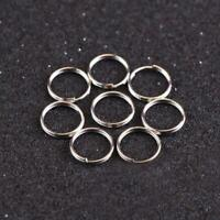 10Pcs 10mm Keyring Blanks Metallloy Keychain Key Fob Split Rings SELL High B1P4