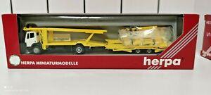 Camion Herpa, échelle HO transport véhicules, pour maquette ferroviaire