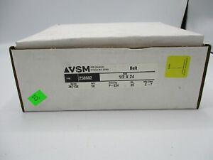 "NEW BOX OF 25 VSM 250882 1/2""X24"" 50 GRIT BELTS SERIES ZK713X"