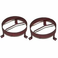 """External Headlight Stone Grill Guard Pair Willys Jeep 8.5"""" Steel Made CAD"""