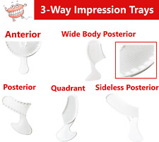 Dental Impression Bite Registration Triple Trays Polybite 3 Way Choose Size Amp Pk