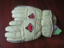 Vintage 90's Saranac Ski Gloves Men's Medium Hot Bodies Geo-Tech Lime Green Nos