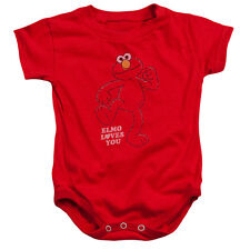 SESAME STREET Elmo LOVES YOU SO MUCH Snapsuit Baby Romper 6 - 24M