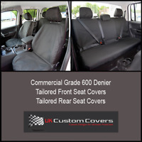 VW AMAROK 2011- TAILORED & WATERPROOF FRONT & REAR SEAT COVERS - BLACK 127 128