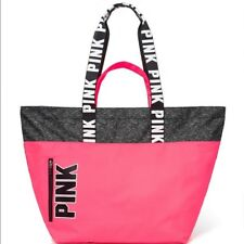 VICTORIA'S SECRET PINK LOGO NYLON SHOULDER STRAP TOTE BAG BRAND NEW WITH TAG