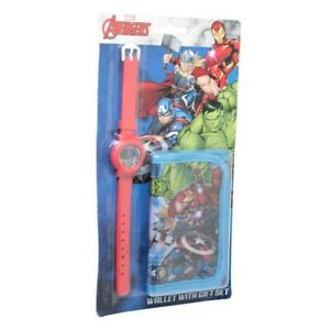 Marvel Avengers Kids/Childrens Watch And Wallet Set (872)