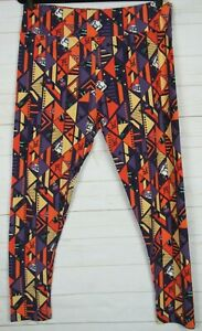LuLaRoe Women's Halloween Leggings Purple, Orange & Yellow Size TC2 New