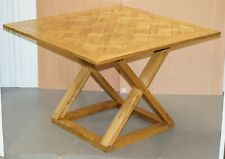 LARGE HALO 150X104CM PEGGED OAK HIGH BAR TABLE TO SEAT 8 - 12 PEOPLE WITH EASE