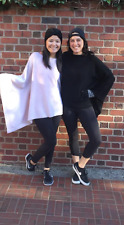 NWOT Black Lululemon Divinity Scarf Poncho Wrap Angel Wing Knit Boolux