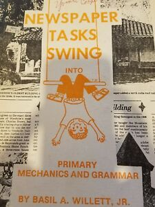 Vintage Used Newspaper Tasks Swing into Primary mechanics and Grammar 1977