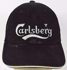 Black Carlsberg Copenhagen embroidered baseball hat cap adjustable