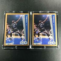 SHAQUILLE O'NEAL SHAQ 1992 FLEER #401 (2-CARD LOT) ROOKIE CARD RC NBA HOF