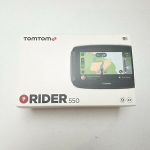 TomTom Rider 550 Motorcycle GPS Navigation Device, 4.3 Inch, with World Maps,