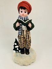 "Madame Alexander Resin Doll Holiday Figurine Music Box ""Christmas Caroler"""