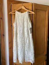 Vestido De Verano Zara Blanco-Tamaño Mediano