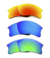 NEW POLARIZED FIRE / BLUE / GREEN CUSTOM LENS FOR OAKLEY FLAK JACKET XLJ