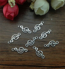 Wholesale 20pcs Tibetan silver music symbol Charm Pendant beaded Jewelry Finding