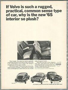 1965 VOLVO advertisement, Canadian ad, Volvo 544, Volvo Canadian, 1800S