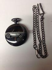Peugeot 204 Cabrio ref178 car emblem on Polished Black case mens Pocket Watch