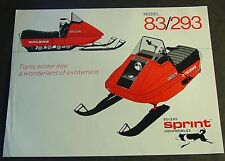 VINTAGE BOLENS SPRINT 83/293 SNOWMOBILE SALES BROCHURE SINGLE PAGE  (782)