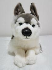 Uni-toys Husky lying dog stuffed animal - (40cm) with tags!