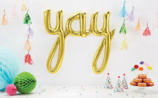 Gold Yay Balloon - birthday party decoration - Genuine USA made NorthStar brand