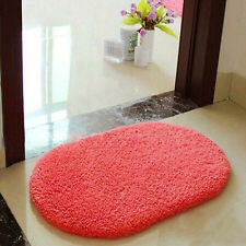 Watermelon red Absorbent Fluffy Door Mat Rug Floor Cover Pad Nonslip Carpet