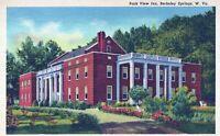 Park View Inn New Berkeley Springs Hotel West Virginia Linen Vintage Postcard