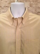 Brooks Brothers Mens Yellow Blue Plaid Traditional Fit Non Iron Shirt, 16 1/2-34