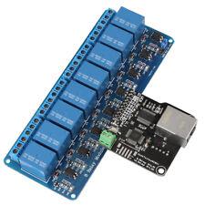 Ethernet Control Module LAN WAN Network WEB Server RJ45 Port + 8-Kanal Relay