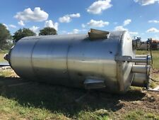 Stainless Steel Vertical Tank 2500 Gal Heslin 14ft Wall X 80 Dia 65 Cone