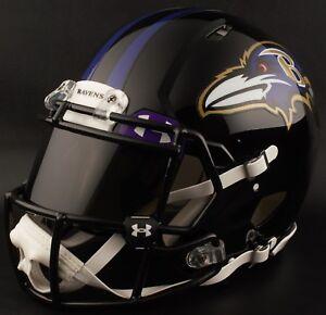 ***CUSTOM*** BALTIMORE RAVENS Full Size NFL Riddell SPEED Football Helmet