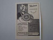 advertising Pubblicità 1955 MARGARINA MARGARINE HOLMA - WIJCHEN HOLLAND