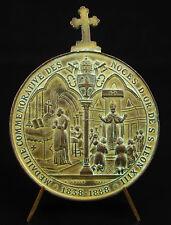medal papal Pope Pope Leo XIII Bridge Max wedding gold 1888 50 y wedding medal