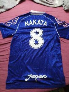 Retro classic 1998 Nakata Japan Home T-shirt TEE jerseys Embroidery High quality