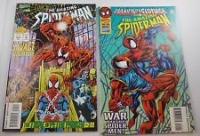 SPIDER-MAN #403,404  NM 9.4 trial of peter parker  max carnage