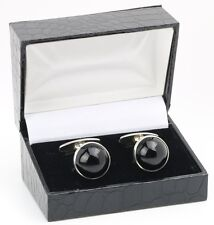 Danish silver cuff links made by N.E.From set with Black Onyx Cap.